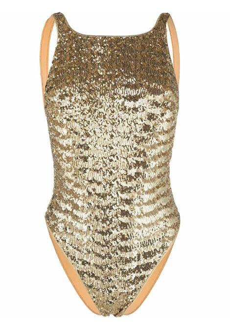 Costume da bagno scollato con paillettes in oro - donna OSÉREE | PNF213GLD