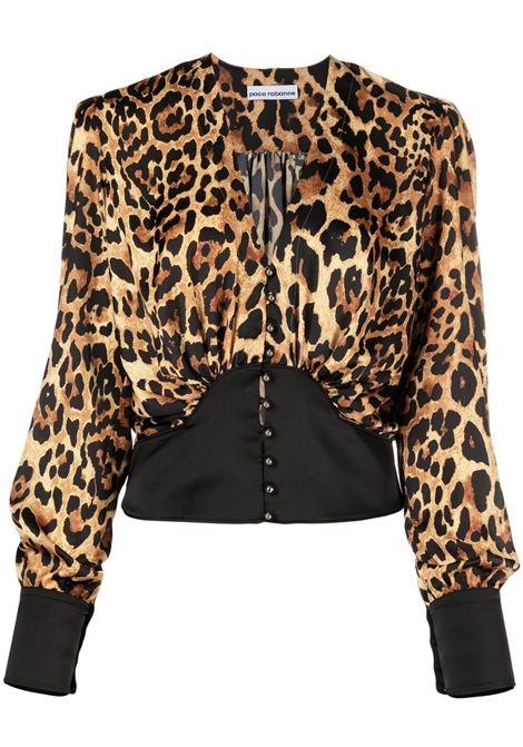 Paco rabanne leopard-print blouse women leopard PACO RABANNE | 21ECT0318P00208V210