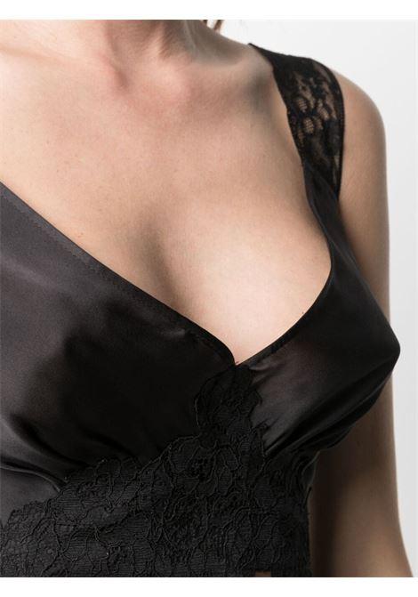 Lace inserts top women black PACO RABANNE | 21ECT0340P00237P001