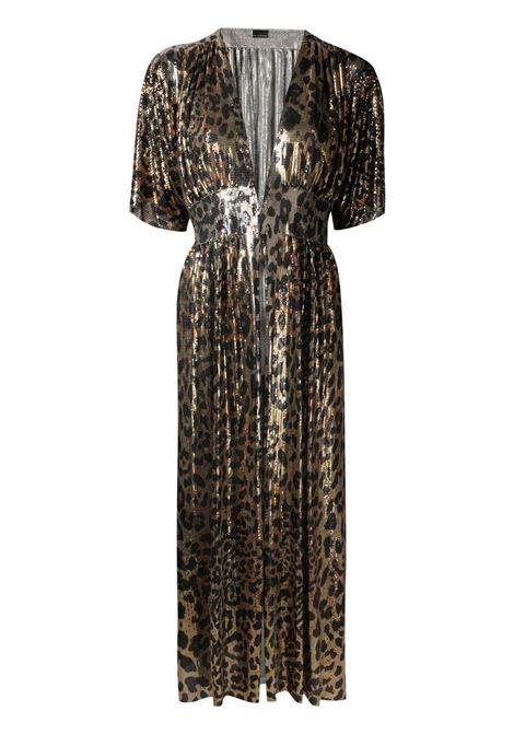 Paco rabanne v-neck midi dress women leopard PACO RABANNE | Dresses | 21EIR0328MH0119V204