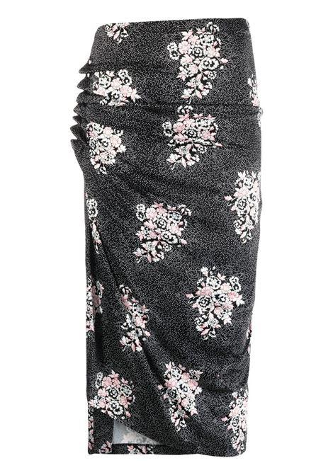 Paco rabanne floral skirt women black flowers PACO RABANNE | Skirts | 21EJJU007VI0269V073