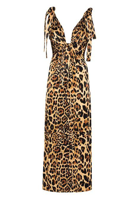 Paco rabanne leopard print maxi dress women leopard PACO RABANNE | Dresses | 21EJR0334VI0231V210