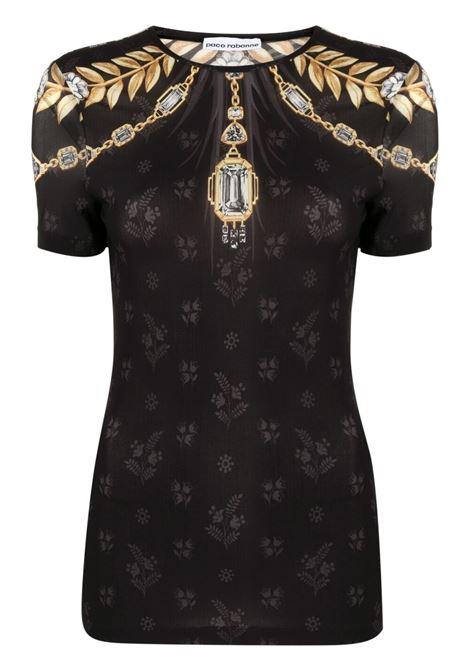 Jewel-print floral t-shirt PACO RABANNE | 21EJT0341CU0007V074