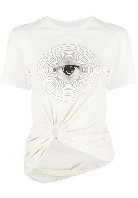 Paco rabanne eye print t-shirt women off white PACO RABANNE | T-shirt | 21EJTE050C00378P109