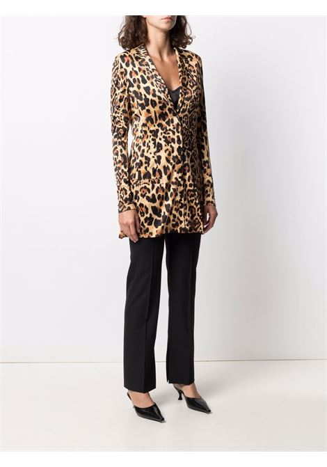 Single-breasted leopard-print blazer - women PACO RABANNE | 21EJVE095VI0231V210
