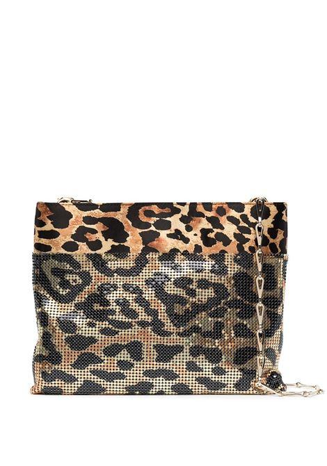 Paco Rabanne borsa a spalla con stampa donna leopard PACO RABANNE | Borse a spalla | 21ESS0044SAT001V210