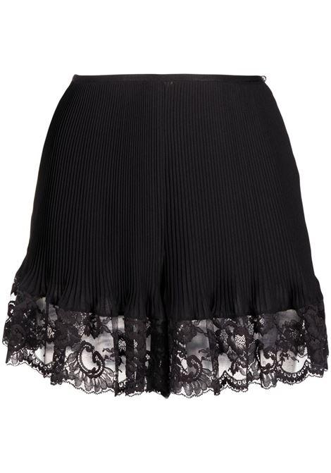 Lace-hem shorts women black PACO RABANNE | Shorts | 21PCPA013P00237P001