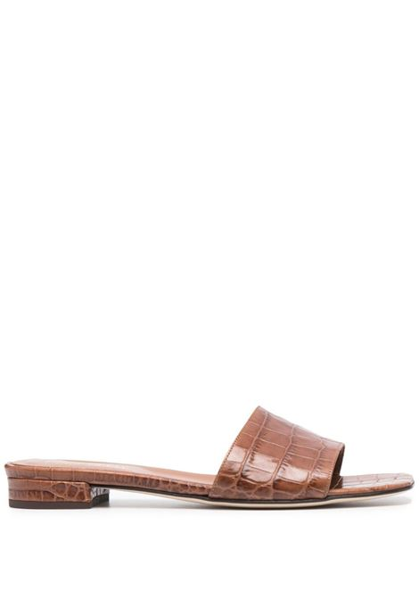 Embossed-croc slides PARIS TEXAS | Slides | PX241XCOCO3040
