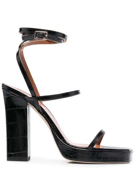 Croc-effect sandals PARIS TEXAS | Sandals | PX560XCOCONRCRBN