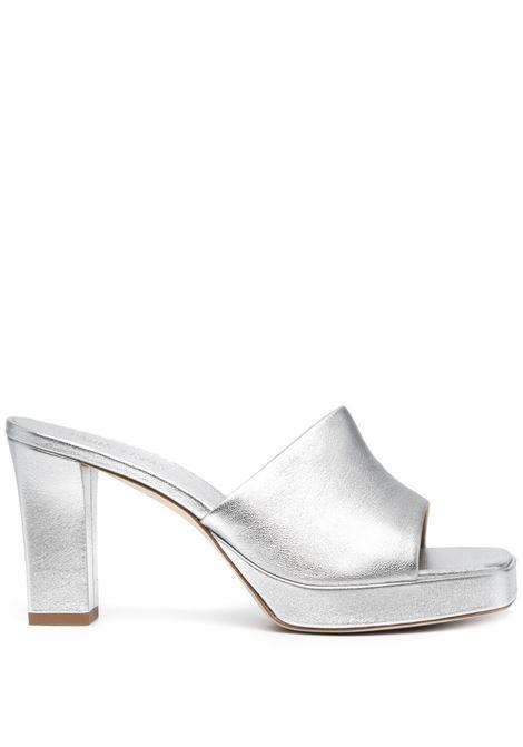 Metallic-print sandals PARIS TEXAS | Mules | PX564XNPL3ARGNT