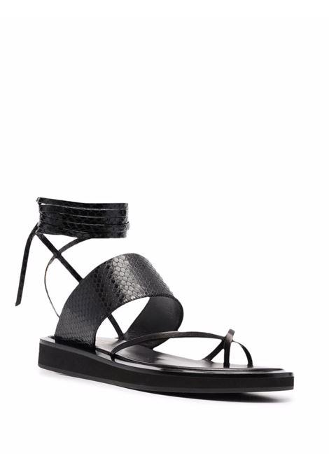 Sandali brooklyn con effetto pelle di serpente in nero - donna PARIS TEXAS | PX568XPNPPNR