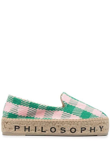 Gingham-check espadrilles  PHILOSOPHY DI LORENZO SERAFINI X MANEBI | Espadrilles | A600182011384