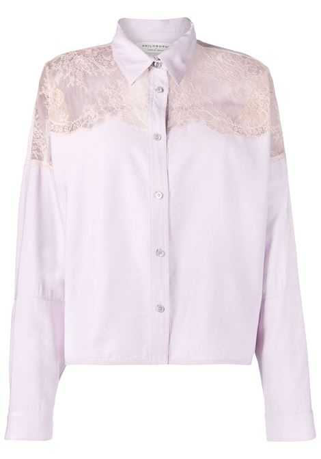 Lace-panel Shirt PHILOSOPHY DI LORENZO SERAFINI | Shirts | A0201718248