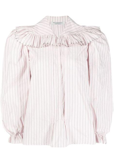 Camicia semi trasparente PHILOSOPHY DI LORENZO SERAFINI | Camicie | A020321271226