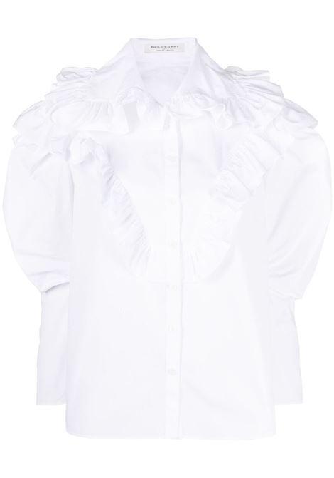 Ruffle-embellished shirt  PHILOSOPHY DI LORENZO SERAFINI | Shirts | A020821191