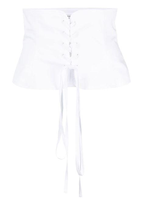 Philosophy Di Lorenzo Serafini cintura a corsetto donna bianco PHILOSOPHY DI LORENZO SERAFINI | Cinture | A440521191