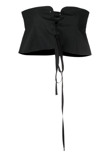 Philosophy Di Lorenzo Serafini cintura a corsetto donna nero PHILOSOPHY DI LORENZO SERAFINI | Cinture | A44052119555