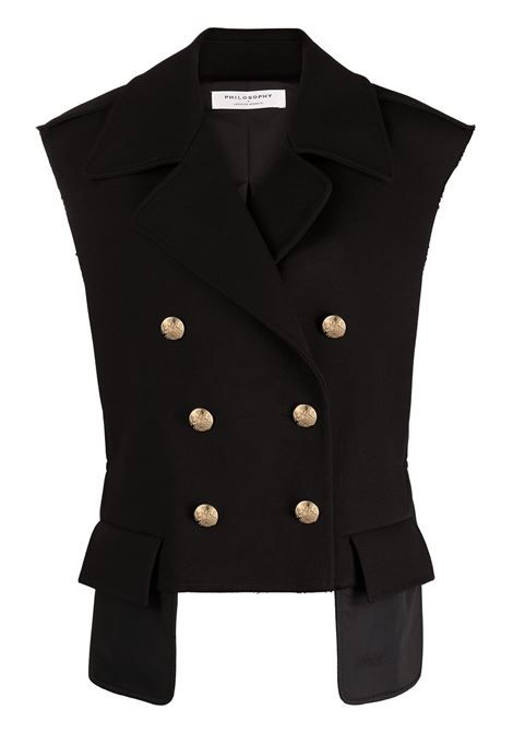 Double-breasted gilet PHILOSOPHY DI LORENZO SERAFINI | Blazers | V05042123555