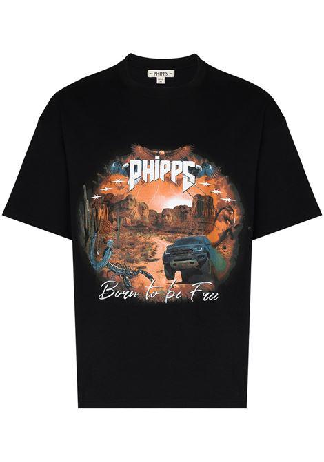 Born to Be Free T-shirt PHIPPS   T-shirt   PHSS21N201J002WSHDBLK