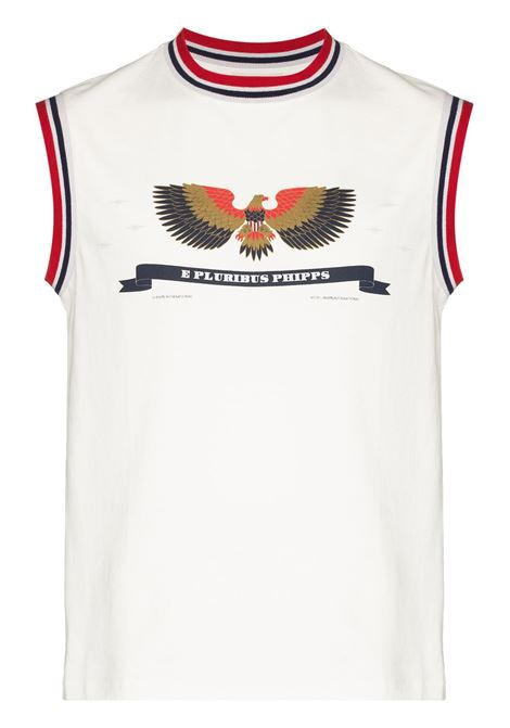 Phipps canotta patriot ringer uomo white PHIPPS | T-shirt | PHSS21N391J002WHT