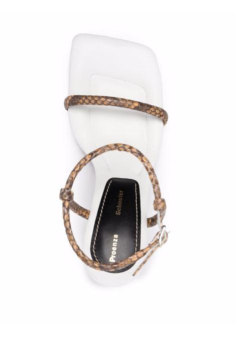 Proenza schouler sandali pipe donna natural white PROENZA SCHOULER   PS36021A13011130
