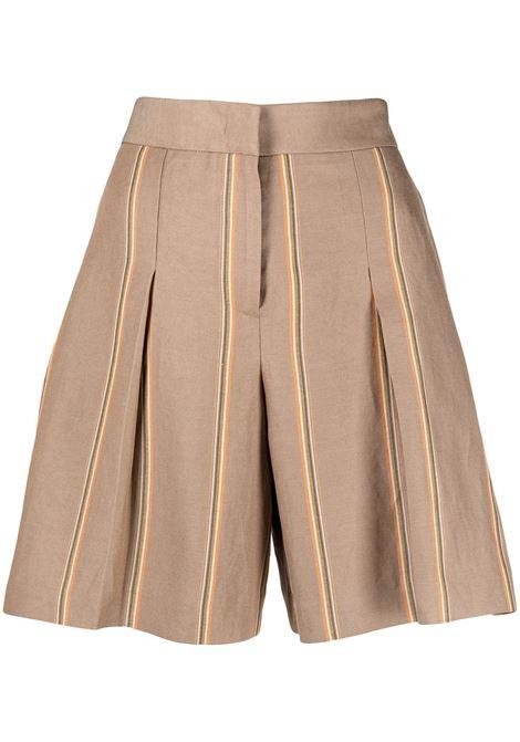 Pt01 shorts sartoriali a righe donna 0060 PT01 | Shorts | BSRMZ00STDLG030060