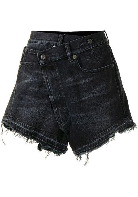 R13 shorts denim a portafoglio donna jake black R13 | Shorts | R13W6055394B101A