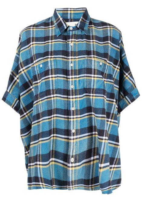 R13 camicia a quadri donna blue plaid R13 | Camicie | R13W943133B499