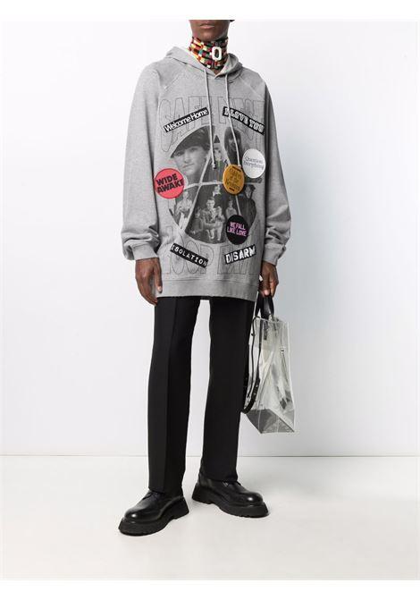 Grey/black slogan-patch sweetshirt - men RAF SIMONS | 211M176B190030080