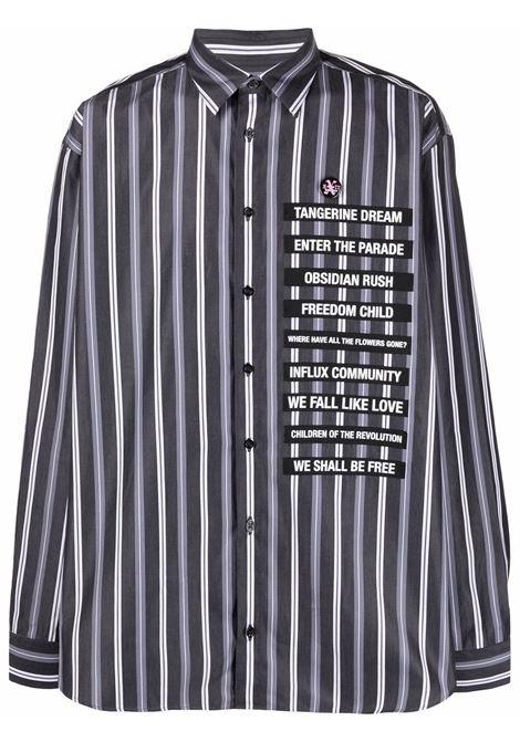 Camicia a righe in nero e bianco -uomo RAF SIMONS | 211M280100069910