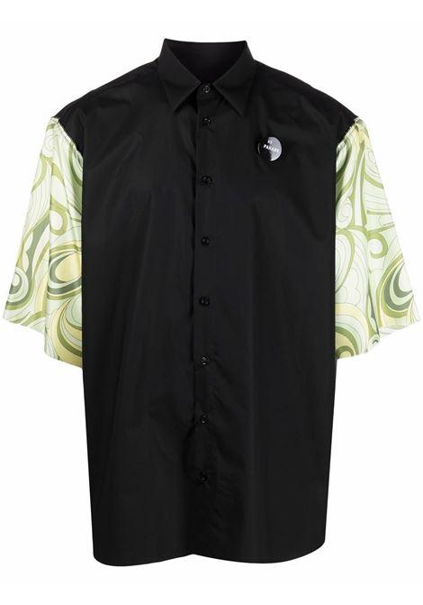 Camicia con maniche a contrasto Uomo RAF SIMONS | Camicie | 211M282100079915