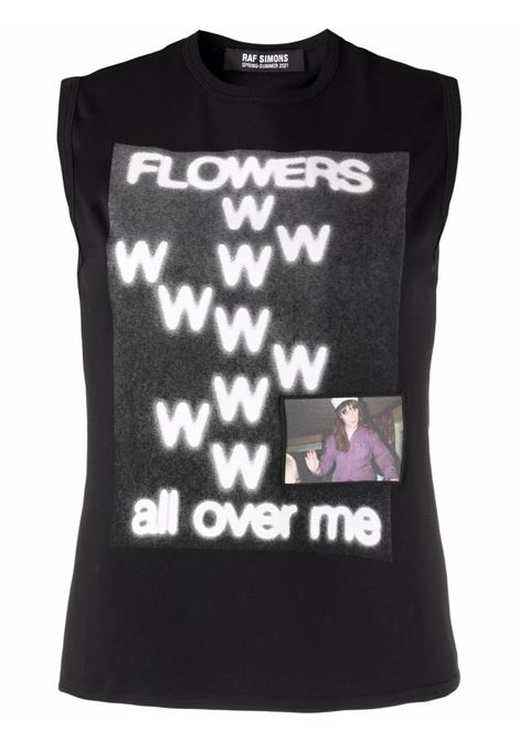 Black and white flowers all over me print tank top -women RAF SIMONS | Top | 211W130B190070099
