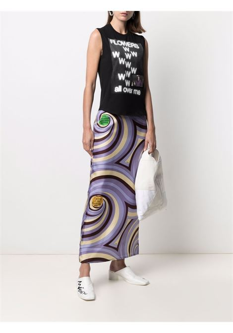 Top con stampa grafica flowers all over me nero - donna RAF SIMONS | 211W130B190070099