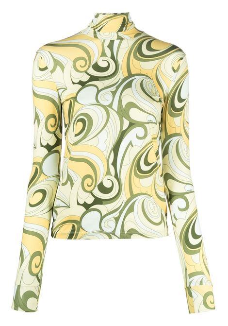 Raf simons swirl print top women hippie yellow  RAF SIMONS | Top | 211W151190091500