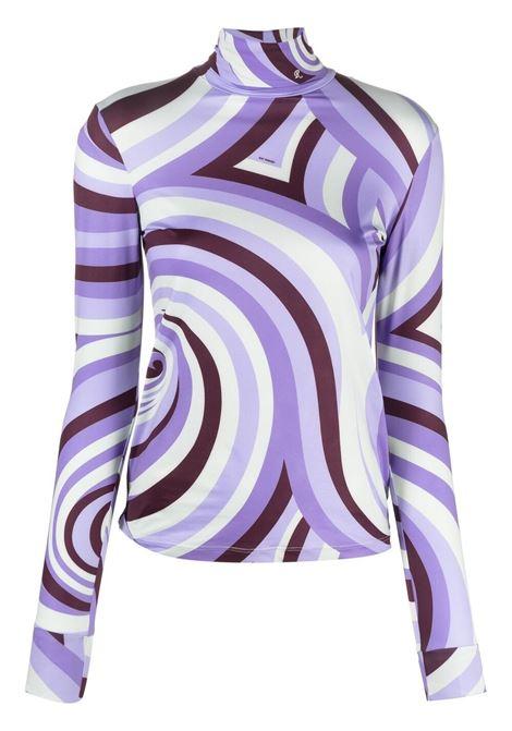 Raf simons swirl print top women spiral purple RAF SIMONS | Top | 211W151190095000