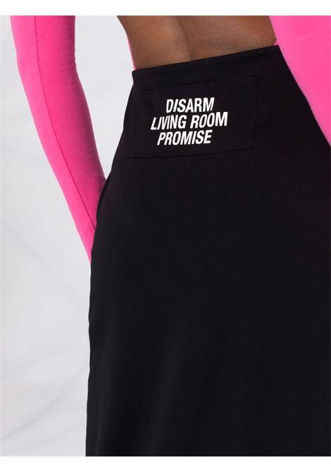 Gonna lunga con slogan nero - donna RAF SIMONS | 211W405190070099