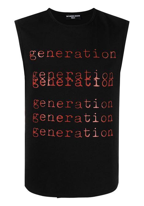 Raf Simons t-shirt generation uomo black RAF SIMONS | T-shirt | A011001900700099