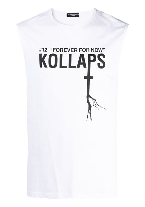 Raf Simons t-shirt forever for now con stampa uomo white RAF SIMONS | T-shirt | A011061900100010
