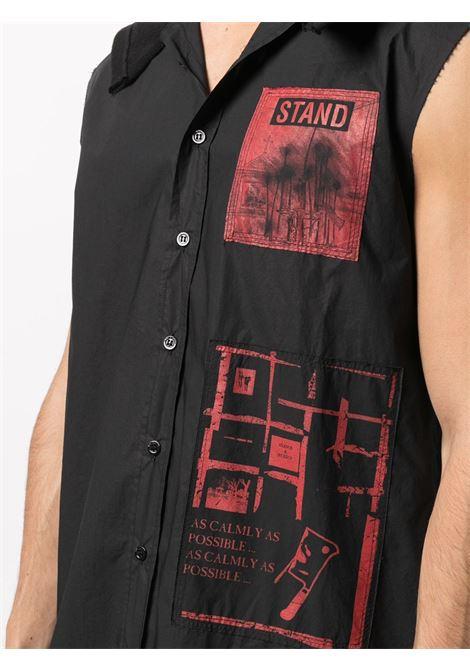 Slogan print hooded shirt RAF SIMONS | A012001000700099