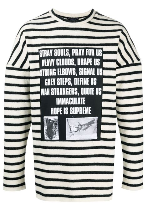 Raf Simons maglione con stampa uomo off white black RAF SIMONS | Maglie | A014011901101399
