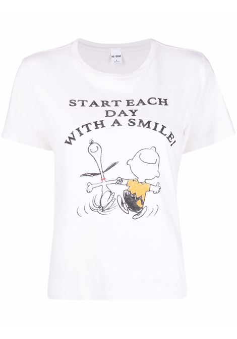 Peanuts graphic-print t-shirt women  RE/DONE | T-shirt | 0242WCGT180VNTGWHT