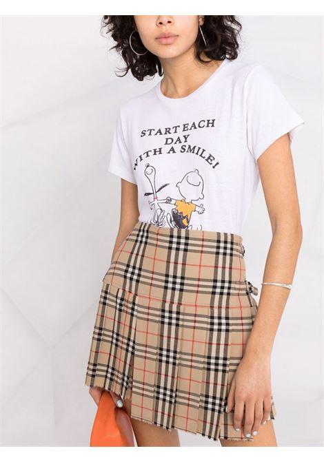 T-shirt peanuts donna RE/DONE   0242WCGT180VNTGWHT