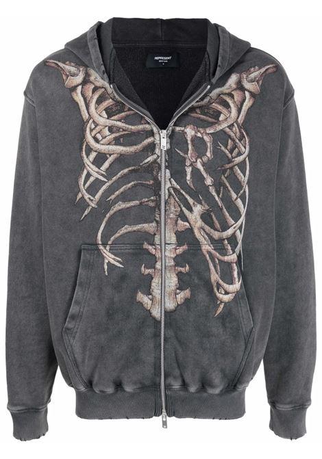 Represent skeleton-print sweatshirt men vintage grey REPRESENT | Sweatshirts | M0408420