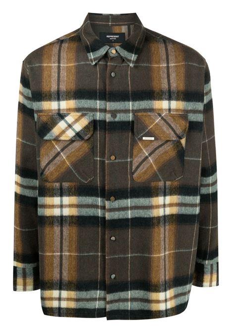 Represent shirt brown green men REPRESENT | Shirts | M0604518