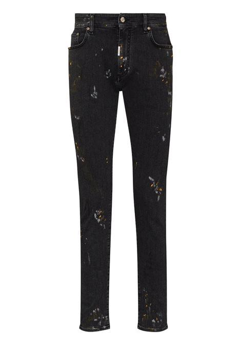 Represent mid-rise jeans men paint black REPRESENT | Jeans | M0704353