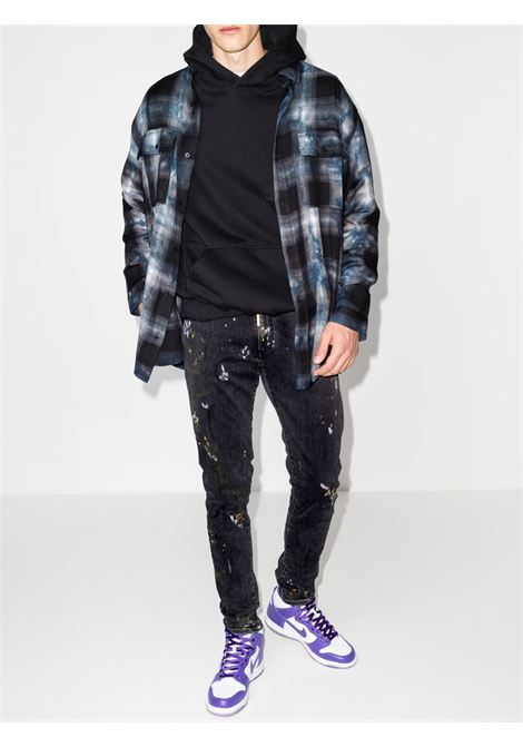 Represent mid-rise jeans men paint black REPRESENT | M0704353