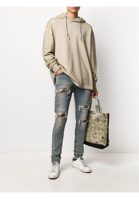 Represent distressed jeans men blue cream   REPRESENT | M0705225