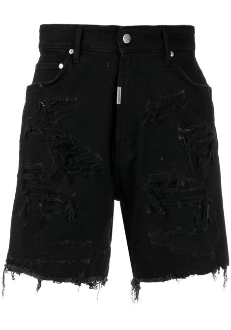 Represent distressed bermuda men black REPRESENT | Bermuda Shorts | M0706201