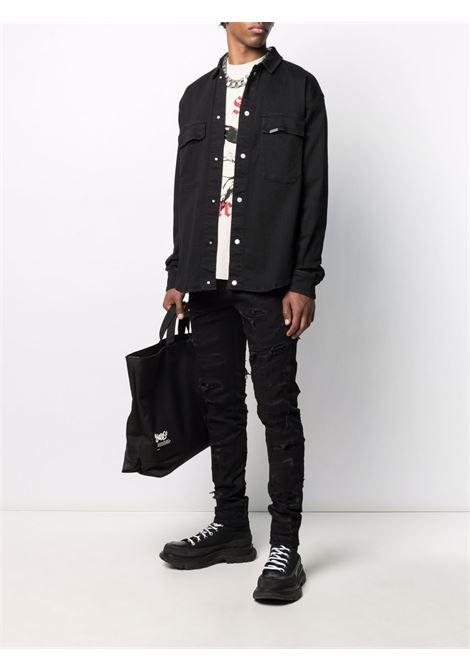Represent button-up shirt men black REPRESENT | M0706501
