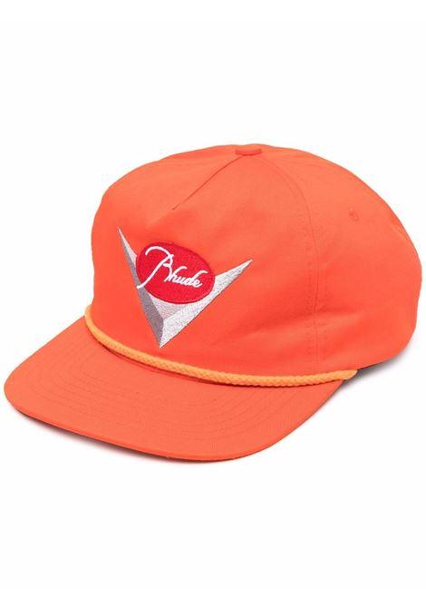 Cappello baseball in cotone arancione- uomo RHUDE | Cappelli | RHPS21HA000000030352